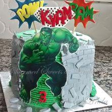 Hulk cake copy