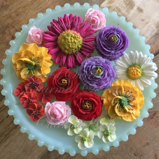 royal icing bouquet etsy